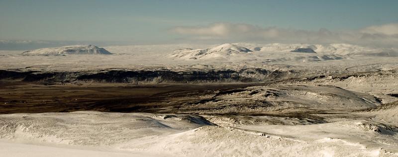 Horft yfir að Stóra og Litla Meitli, Skálafell og Hverahlíð