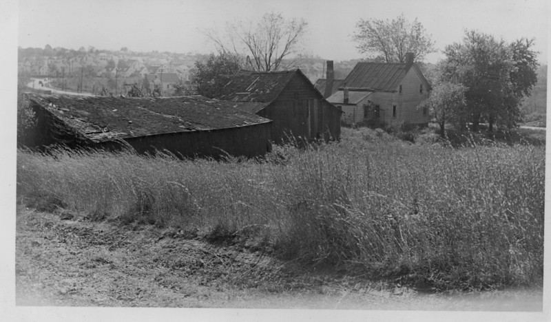 The George Kubach farm buildings on Vauxhall Rd. was located where the Lincoln Tech parking lot stands today. You can see the bend in Vauxhall Rd. in the distance and houses on Commerce Ave. The next image is the tax map indicating the location of these buildings. The Kubach Family resided at this location from the 1860's.