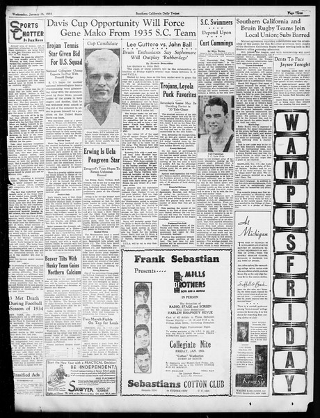 Daily Trojan, Vol. 26, No. 66, January 16, 1935