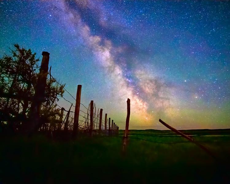 Grasslands Fence Milky Way