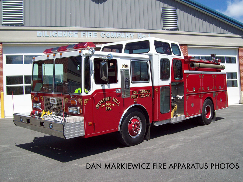 DILIGENCE FIRE CO. TANKER 1431 1987 KME PUMPER-TANKER