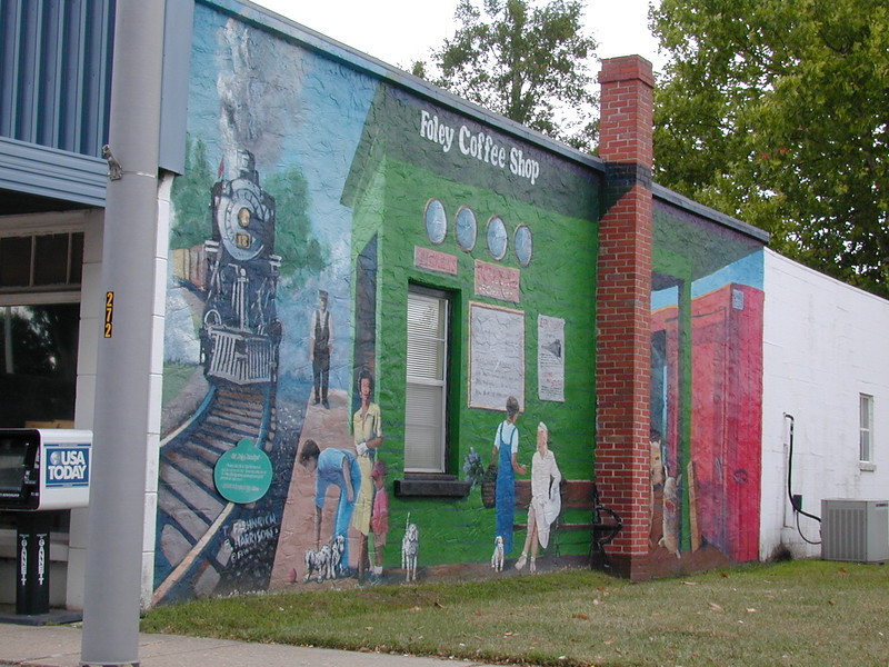 A Mural in Foley, Alabama