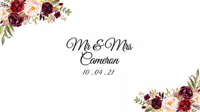10.04 Mr & Mrs Cameron