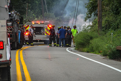 8-25-18 Wires Down, Bear Mountain Bridge Road