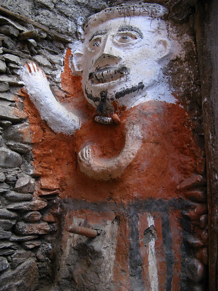 A male guard at one of Kagbeni's two gates.