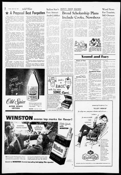 Daily Trojan, Vol. 48, No. 118, April 26, 1957