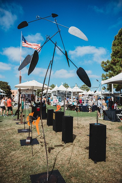 Booth Photo from Artwalk Liberty Station in San Diego