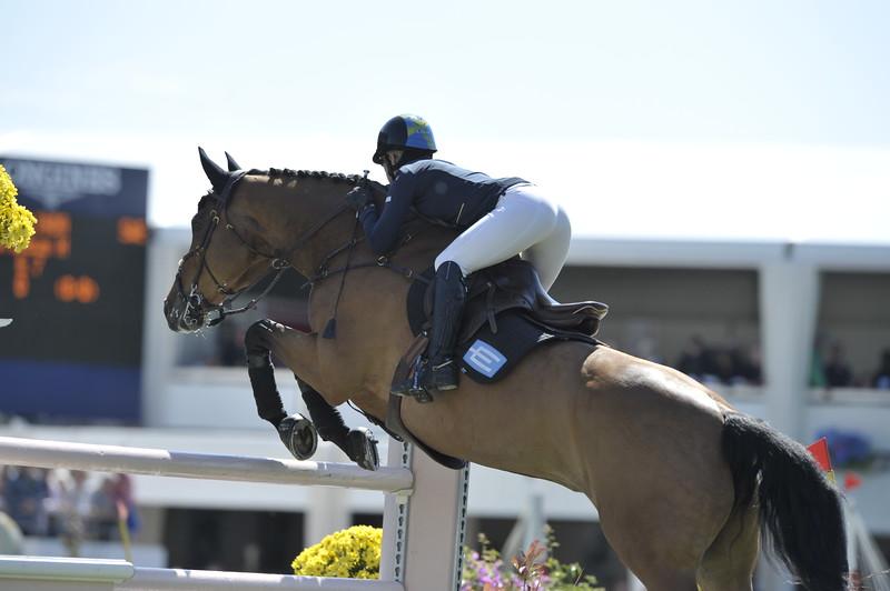 JUMPING : Linda HEED sur Columbus H derby de la baule 2012 -  CSIO DE LA BAULE 2012 - PHOTO : © CHRISTOPHE BRICOT