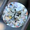 4.11ct Antique Cushion Cut Diamond, GIA N VS1 10