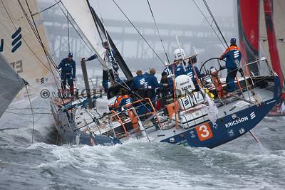 Volvo Ocean Race Start of Leg 7