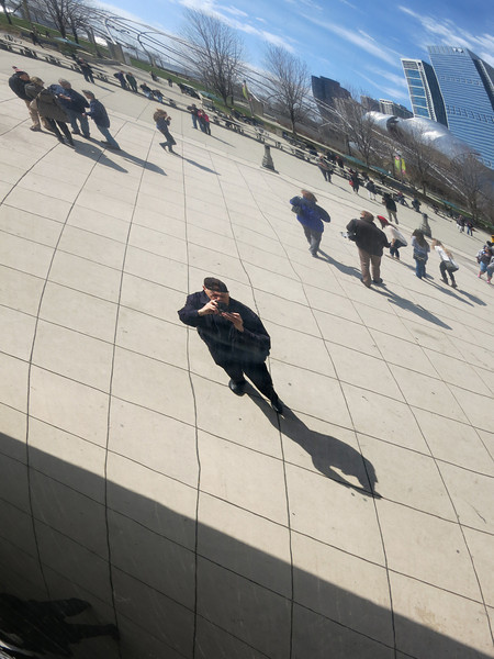13-N Knox reflected photographing Cloud Gate