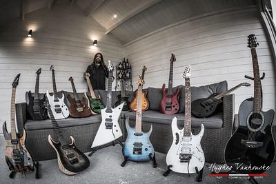 Guy Commeene (Dyscordia) guitar collection (Solar & Ibanez)