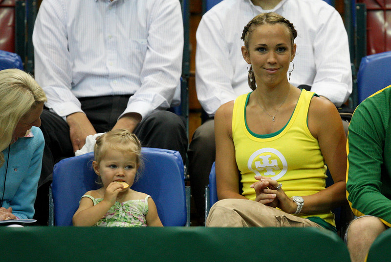 11 March 2008 Townsville, Qld, Australia - Bec and Mia Hewitt at the Davis Cup tie between Thailand and Australia - Photo: Cameron Laird (Ph: 0418 238811)