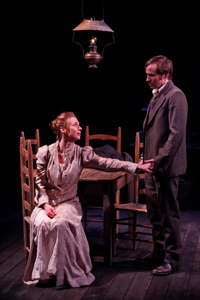 Julia Coffey and Nick Cordileone in THE WIDOWING OF MRS. HOLROYD by D.H. Lawrence 