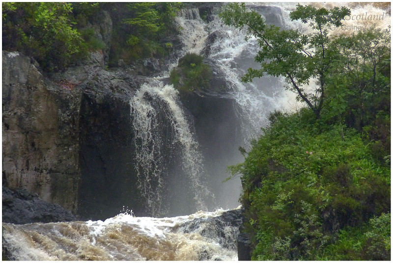 waterfall in spate, Inchree near Onich