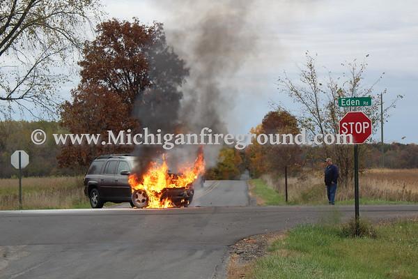 10/19/20 - Leslie car fire, Eden & Covert
