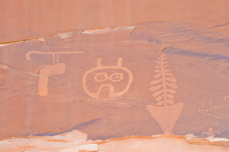Puebloan rock art in Butler Wash near Comb Ridge, Bluff Utah.