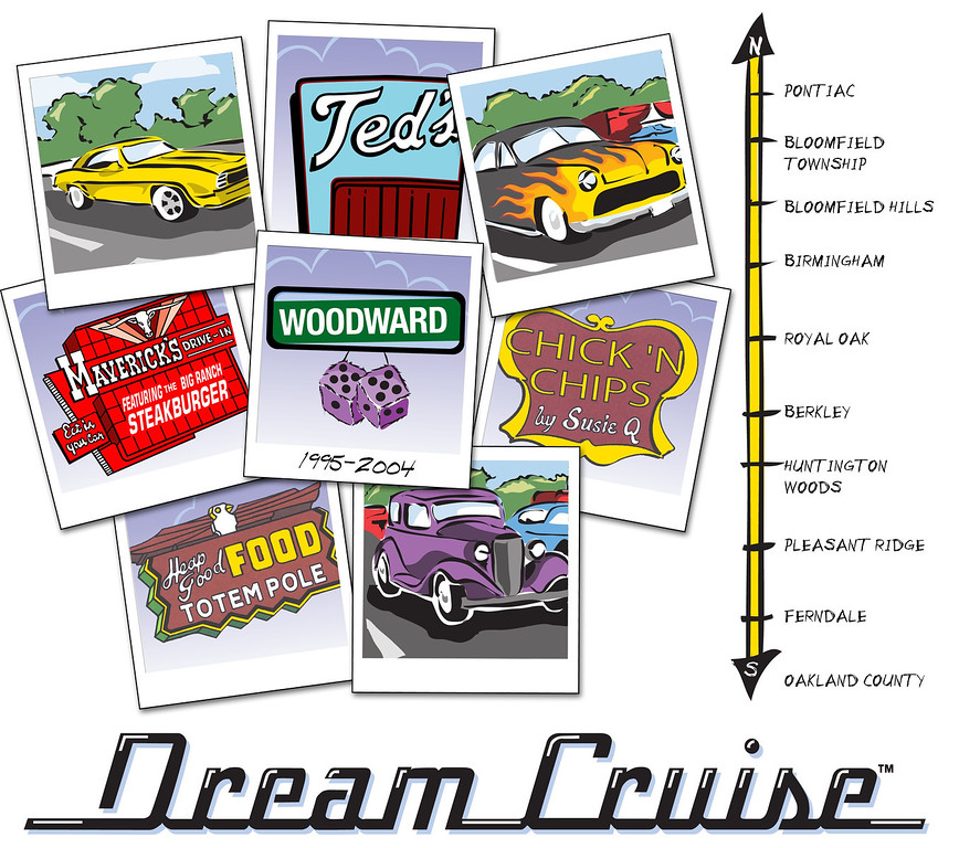 . Official Woodward Dream Cruise 10th anniversary artwork unveiled at Autorama at Cobo Center in Detroit, Friday February 27, 2004.