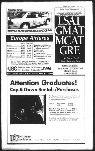 Daily Trojan, Vol. 111, No. 55, April 10, 1990