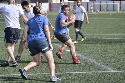 Touch Rugby at the Victoria Stadium