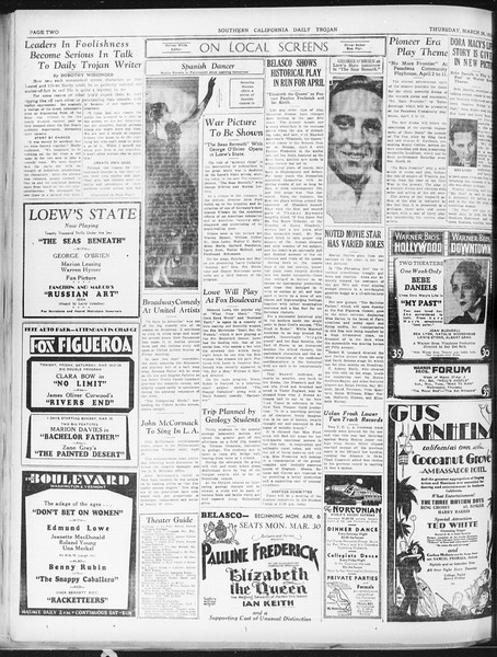 Daily Trojan, Vol. 22, No. 115, March 26, 1931