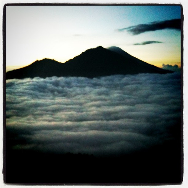 Sunrise view from Mt. Batur, Bali