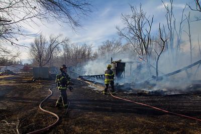 Barn Fire 9400 N. 135th St. W. (12/4/15)