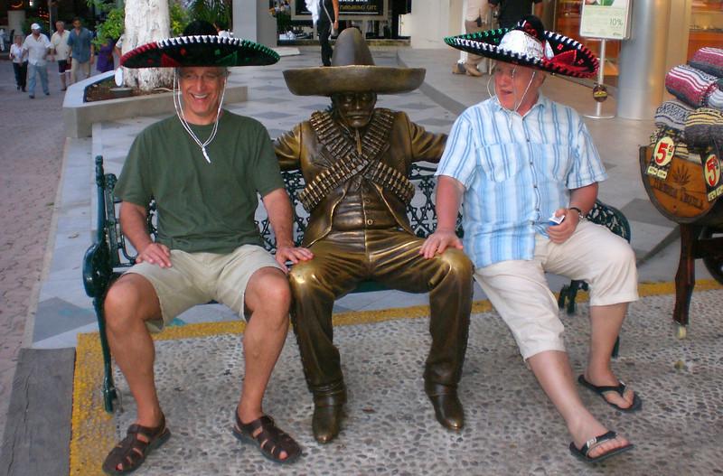 Playa del Carmen - 2 Mexican style - wearing sombrero...