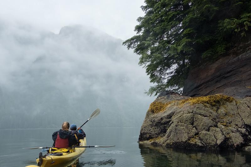 Paddling in Misty Fjord