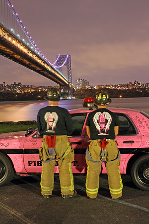 2012 Cancer Awareness month FD Photo shoot  Under the GWB