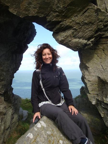 Exmoor coast Jasmijn rock frame .JPG