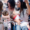 Gibraltar, 2nd August  2014  - Mothers breast feeding during the Big Latch On in Gibraltar. The Gibraltar Big Latch On is organised annually by the Breast Feeding Association as part of the campaign supporting Breast Feeding in public places.