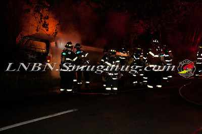 North Babylon Fire Co. MVA w/ Vehicle Fire E/B Southern State Pkwy Before Exit 39N 6-16-13