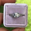 1.19ct Art Deco Carre Cut Diamond Solitaire 7