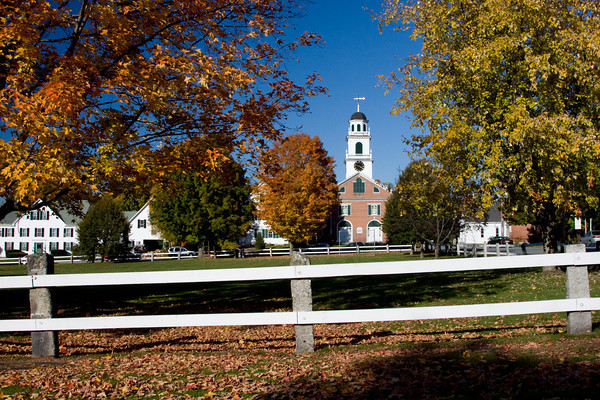 New England Town Green in Autumn, North Haverhill, New Hampshire