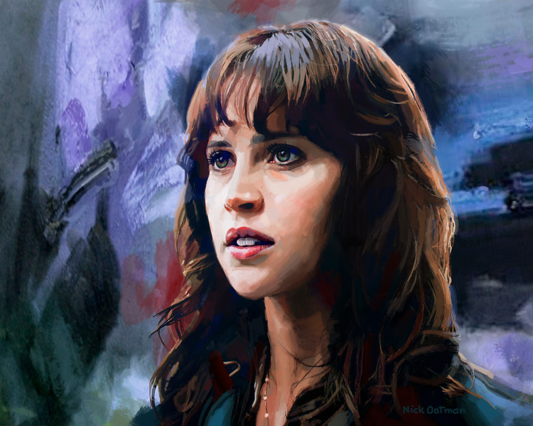 Felicity Jones digital art painting