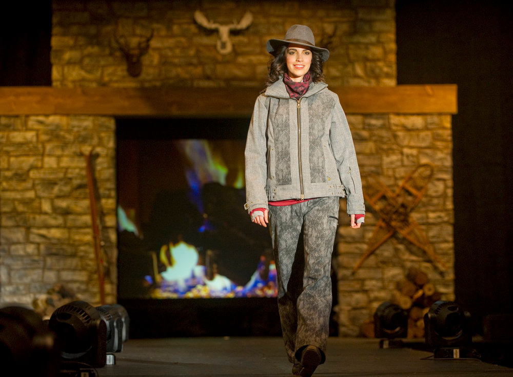 Description of . NILS clothing and a PISTIL gray felt hat, as the SIA Snow Show hosted its 2013 Snow Fashion & Trends Show at the Colorado Convention Center  in downtown Denver  on Wednesday, January 30, 2013.  (Photo By Cyrus McCrimmon / The Denver Post)