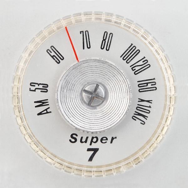 Super 7 portable radio dial
