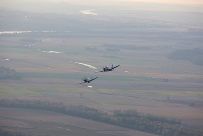 P51 Mustang and T28 Air to Airs