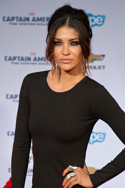 HOLLYWOOD, CA - MARCH 13: Actress Jessica Szohr arrives at Marvel's 'Captain America: The Winter Soldier' premiere at the El Capitan Theatre onThursday,  March 13, 2014 in Hollywood, California. (Photo by Tom Sorensen/Moovieboy Pictures)