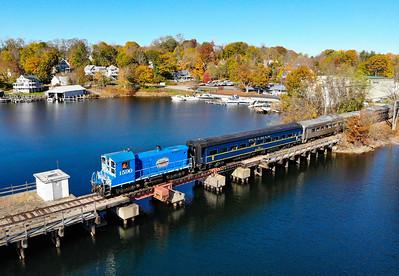 "Winnipesaukee Scenic Railroad, MBRRE ""Lochmere Limited"" Charter, 10-31-20."