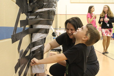 Duct tape at Rousseau Elementary