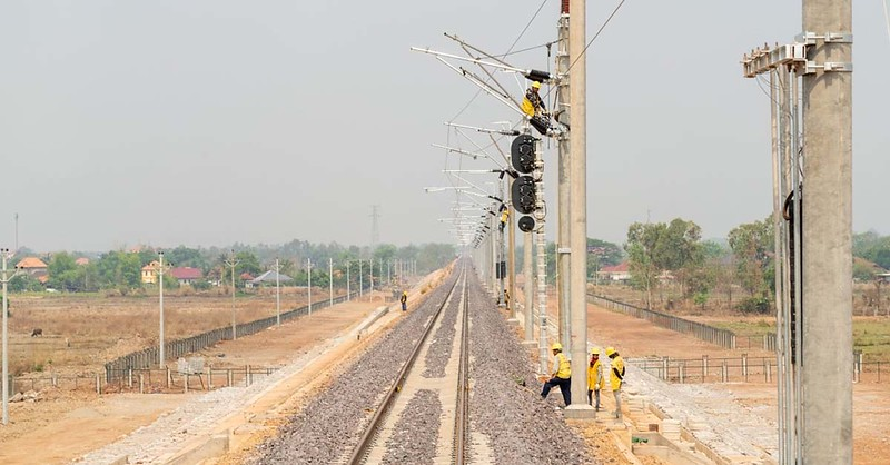 Laos-China railway track 80 percent complete