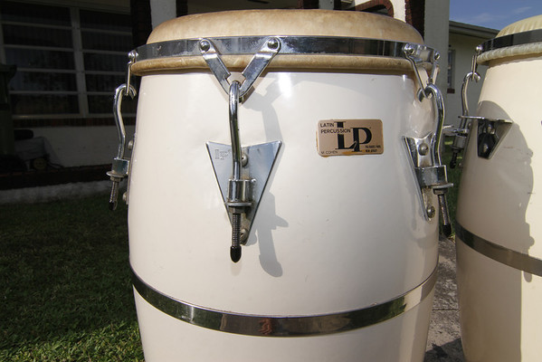 Vintage Latin percussion Congas + Stand