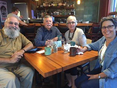 2019 08 25: Dinner with Tom and Sandy Blumenberg