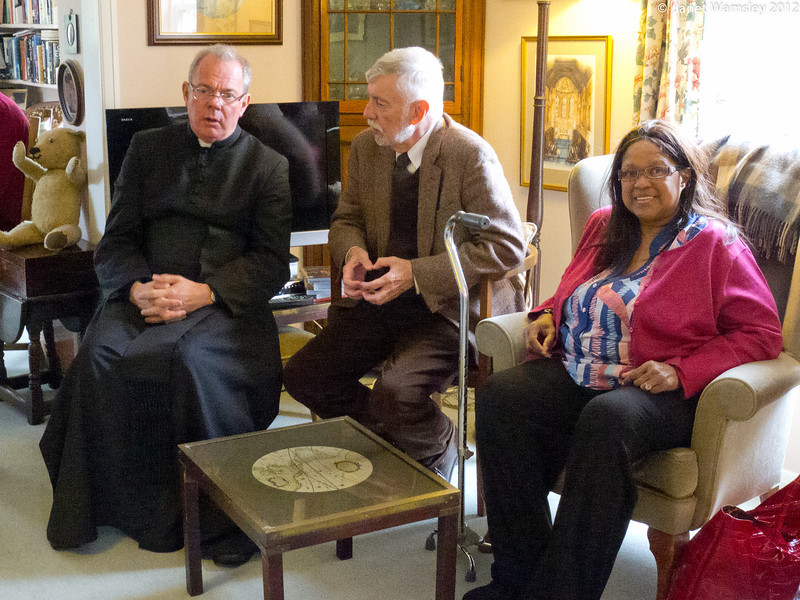 Fr. Andrew, Patrick White and Sybil Boggis