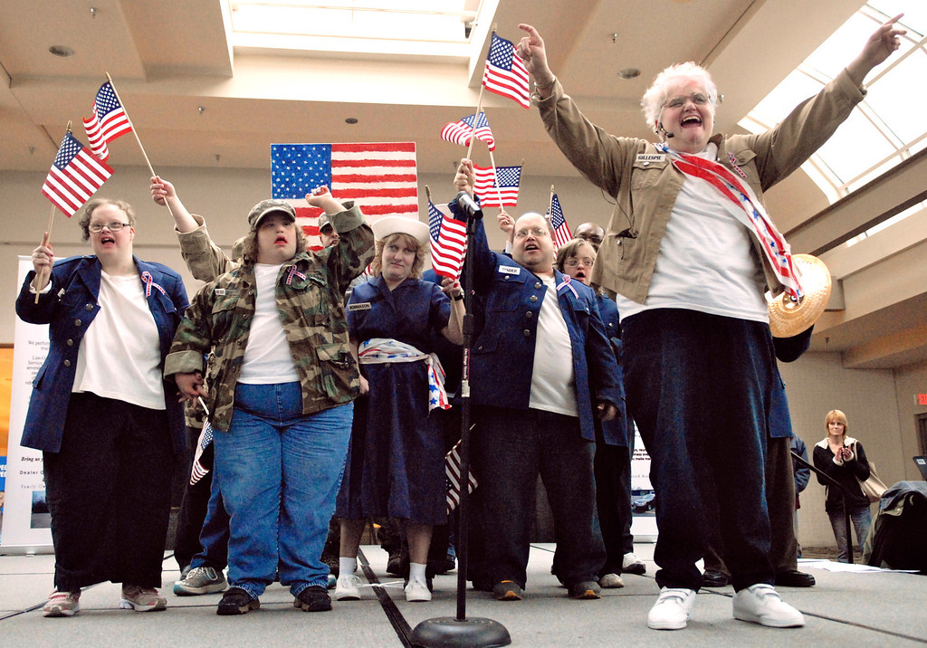 ". Jeff Forman/JForman@News-Herald.com The All American Group sings ""God Bless the USA\"" at the Deepwood Idol Show March 29 at the Great Lakes Mall. The group won first place honors for their performance. The show was presented by the Lake County Board of Developmental Disabilities/Deepwood."