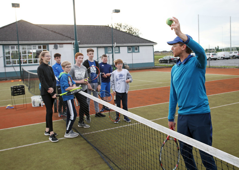 Tullamore Tennis Club's new coach Bryan Stewart