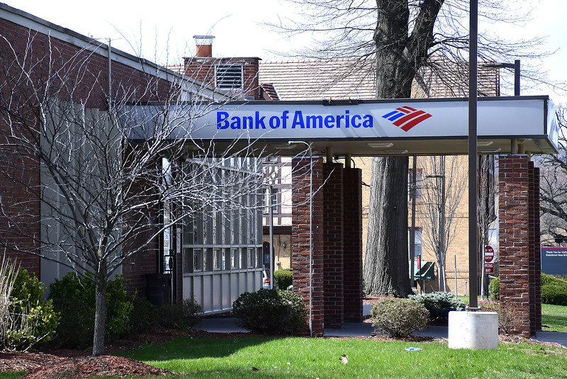 4/7/2020 Mike Orazzi   Staff Bank of America on West Main Street in New Britain.