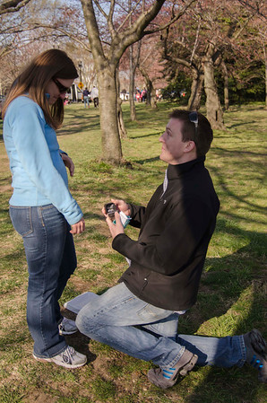Evan proposal in DC She said Yes